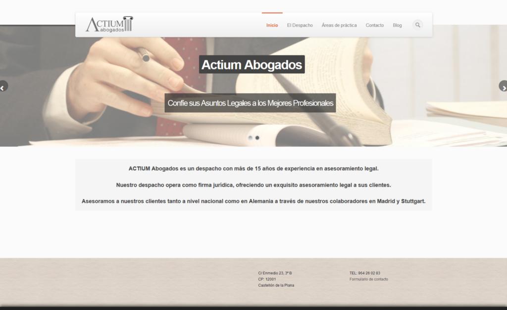 Página Web de Abogados Actium