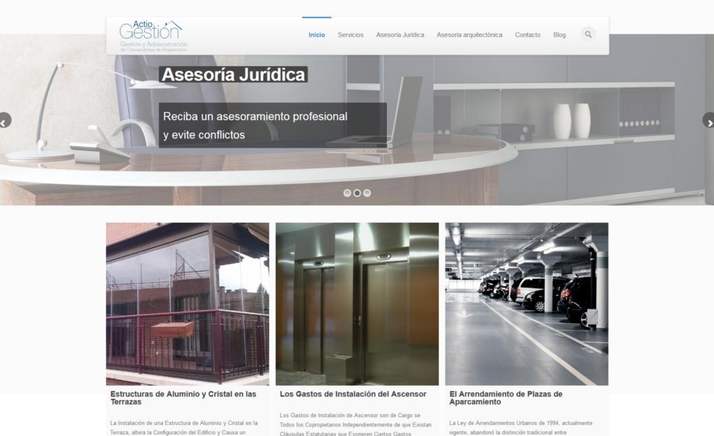 Página Web de Actio Gestión