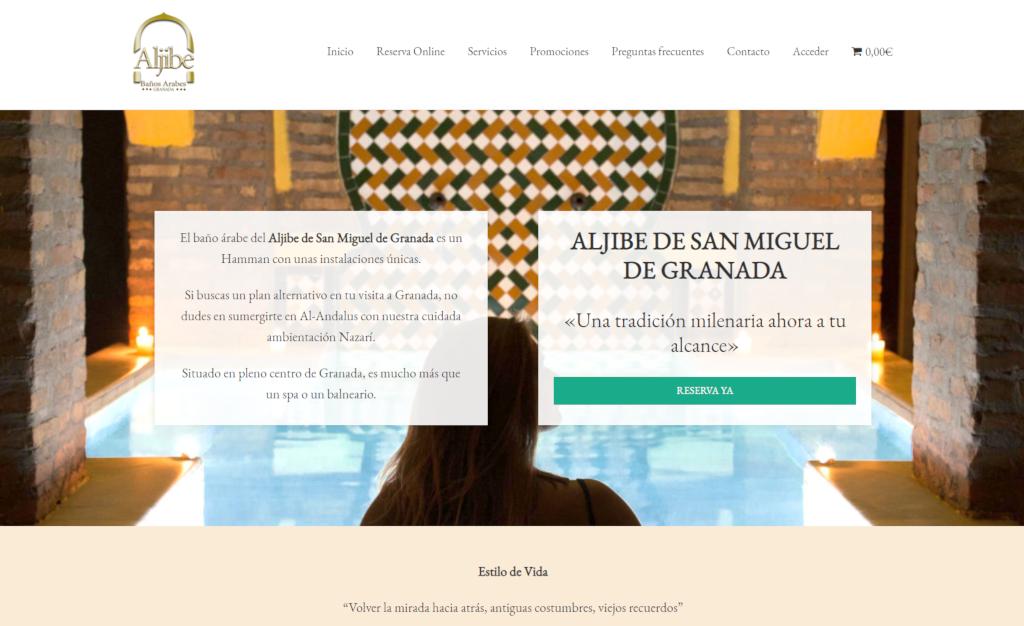 Web y sistema de reservas del Aljibe de San Miguel