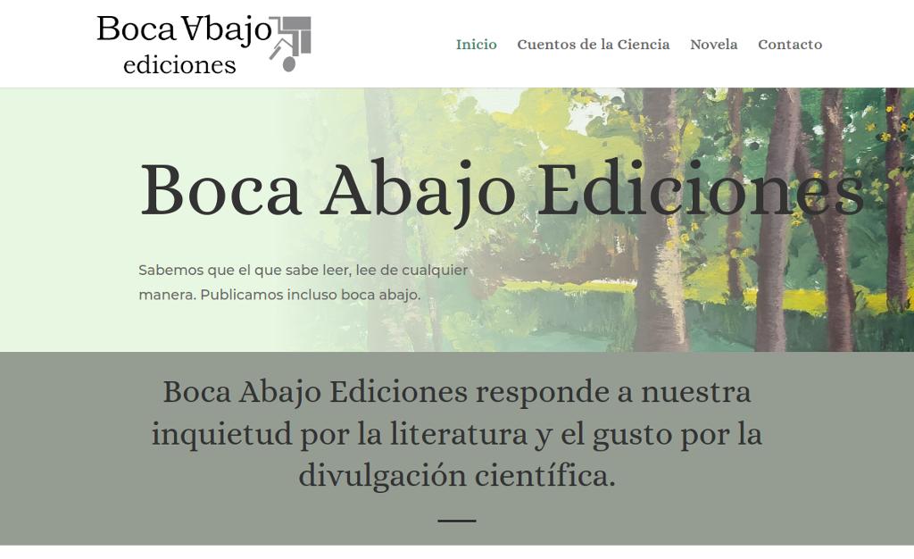 Página Web de Boca Abajo Ediciones