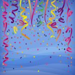 Celebracion con confeti