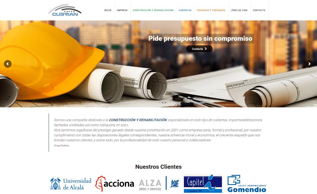 Página Web del Grupo Cubrian