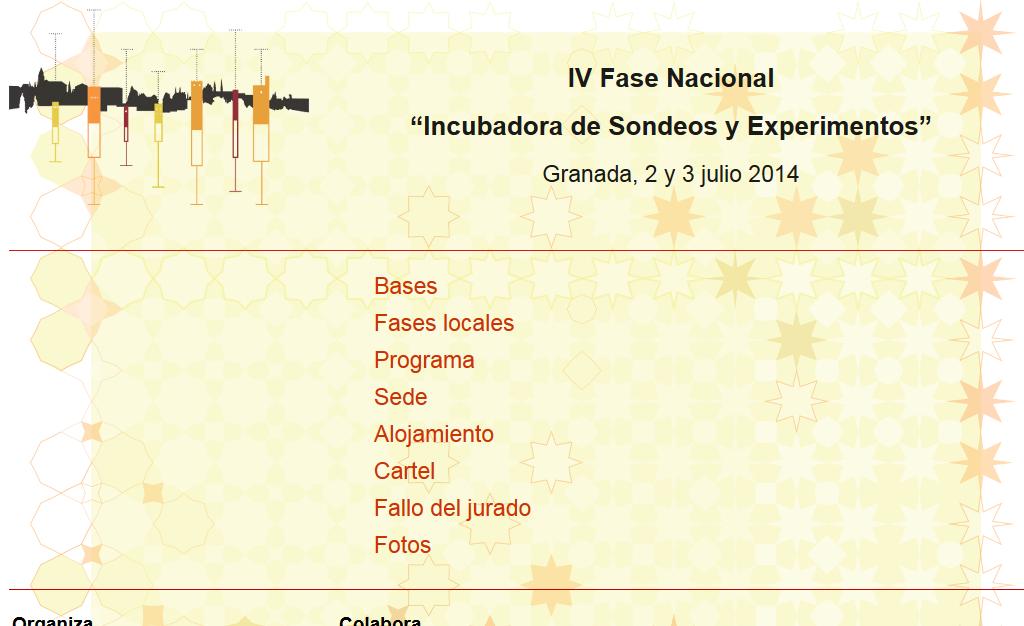 """Página Web de la IV Fase Nacional """"Incubadora de Sondeos y Experimentos"""""""