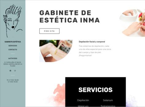 Página Web de Gabinete de Estética Inma