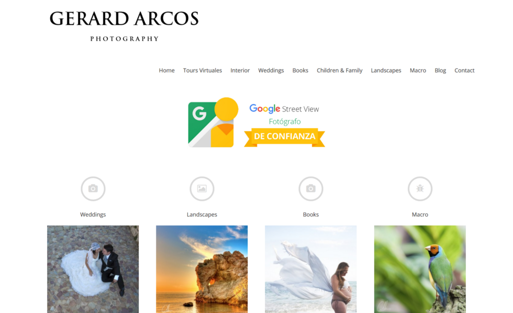 Página Web de Gerard Arcos Photography