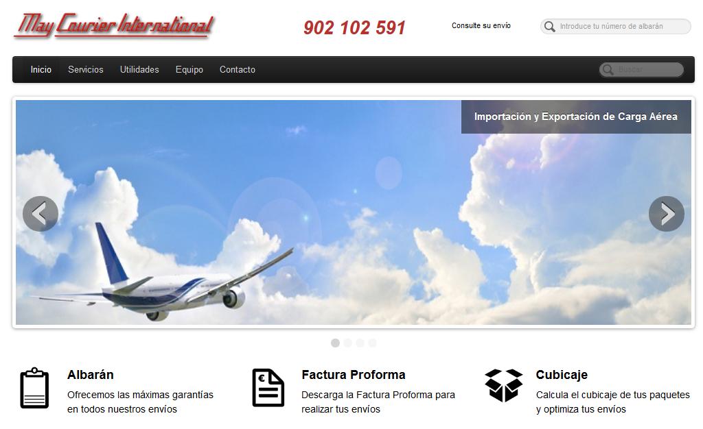 Página Web de Maycourier España