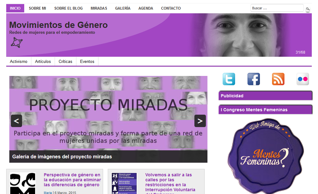 Página Web de Movimientos de Género