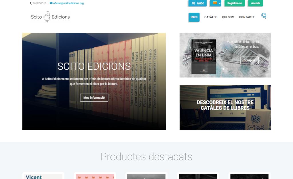 Página Web de Scito Edicions